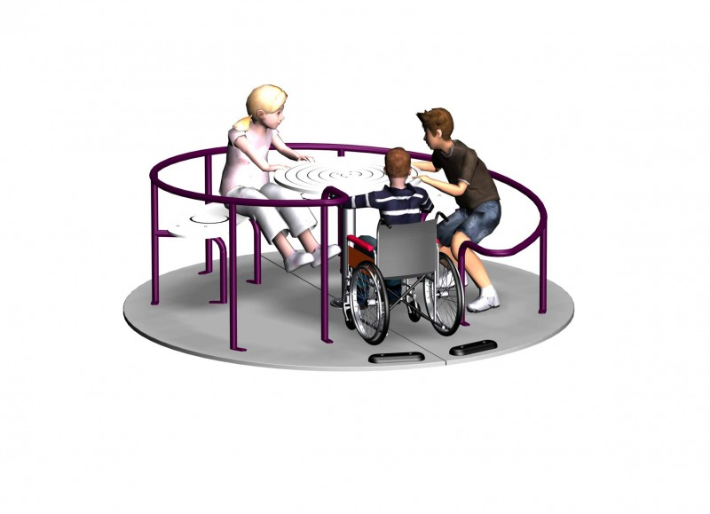 Wheelchair-roundabout sutcliffe