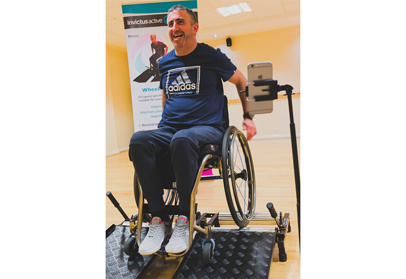 invictus wheelchair treadmill naidex offer