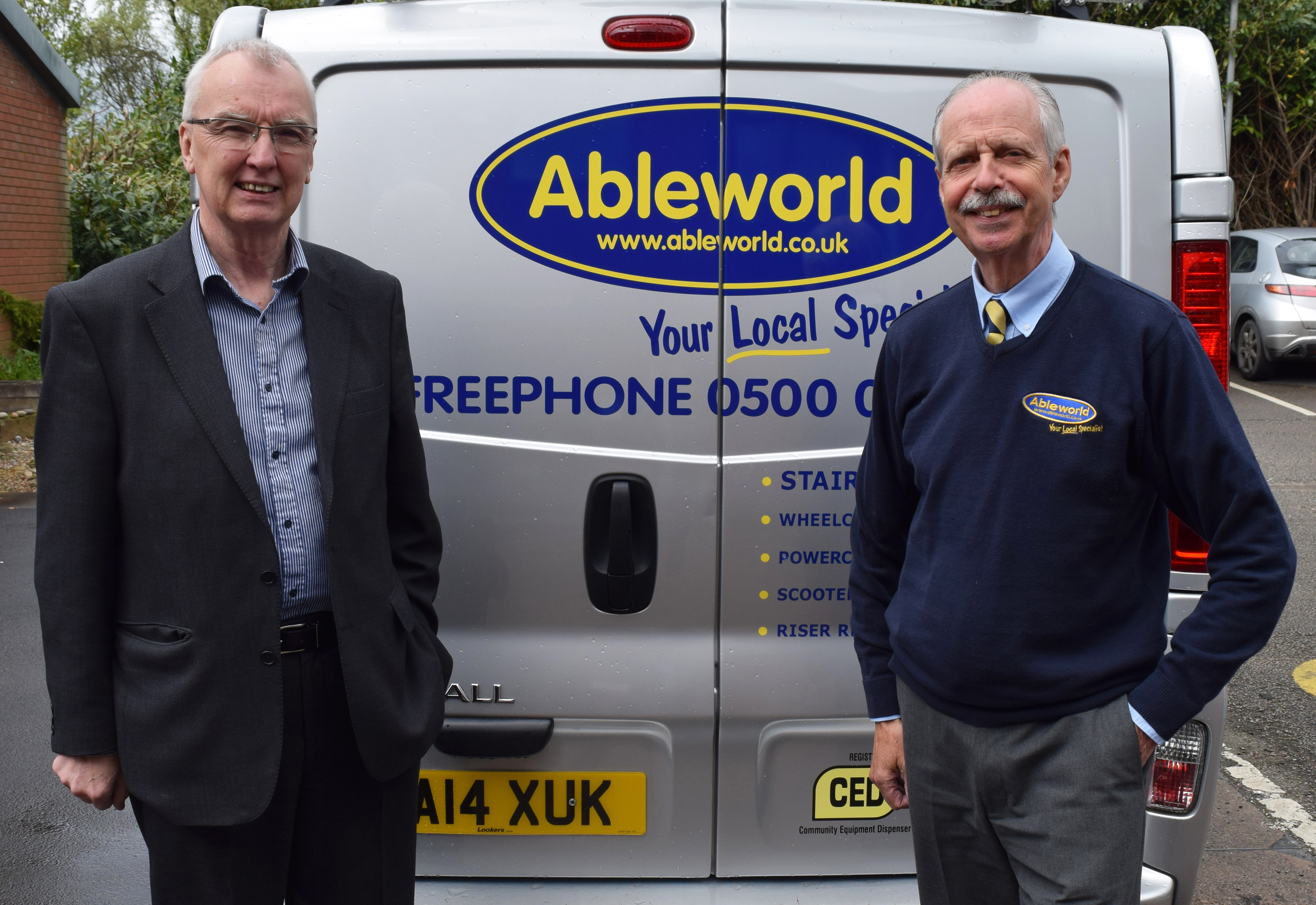 Ableworld Mike Williams (left) and Paul Boniface