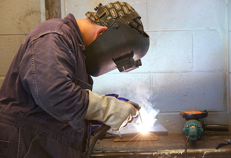 apprentice welder engineer stock