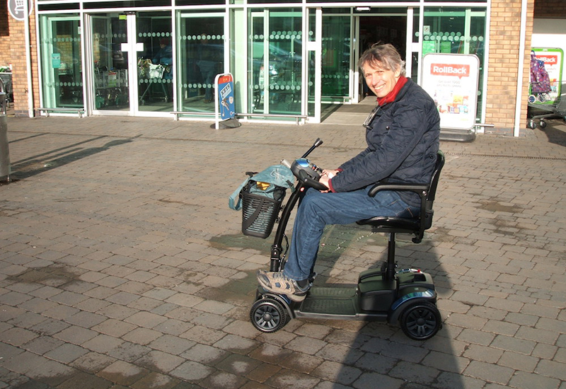 motability ian cook van os scooter
