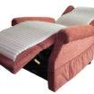 Recliner slim mattress supine