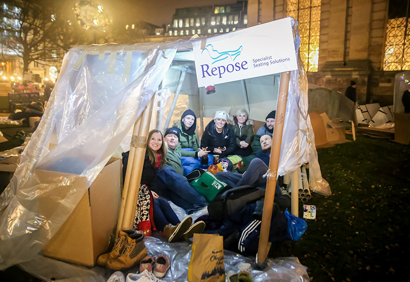 repose charity sleepout