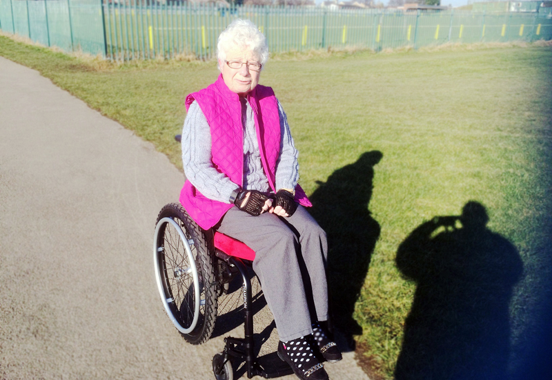 Carole-out-and-about-with-her-new-wheelchair