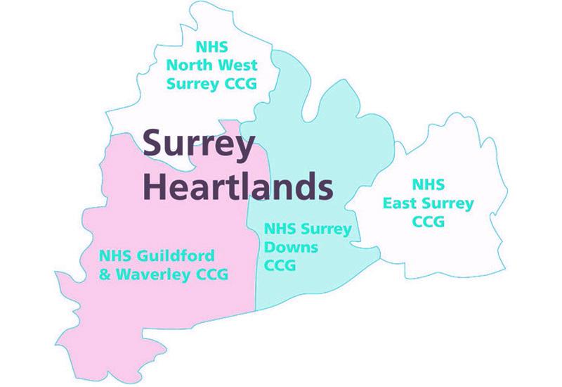 surrey heartlands ccg map