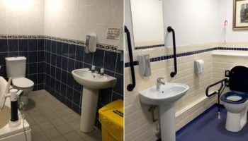 Before the refurbishment (left) and after the AKW refurbishment (right)