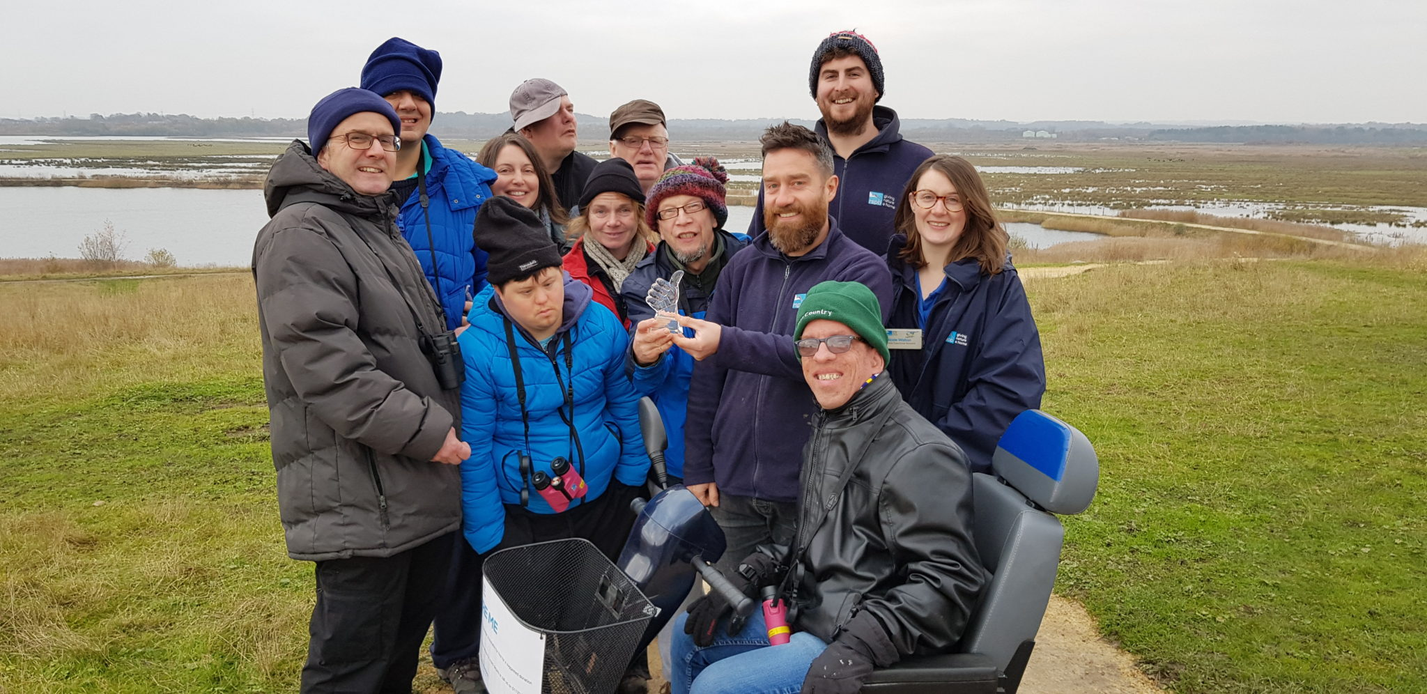 Open Country presents the GAS Award to RSPB St Aidan's