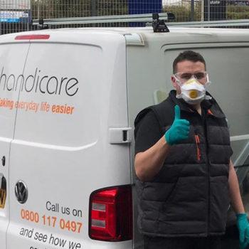 PPE COVID-10 response – Handicare engineers 2