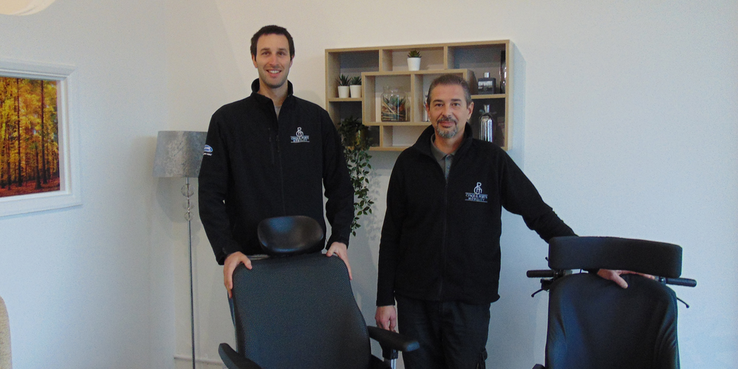 L-R Chris Cox and Chris French Directors at Cinque Ports Mobility