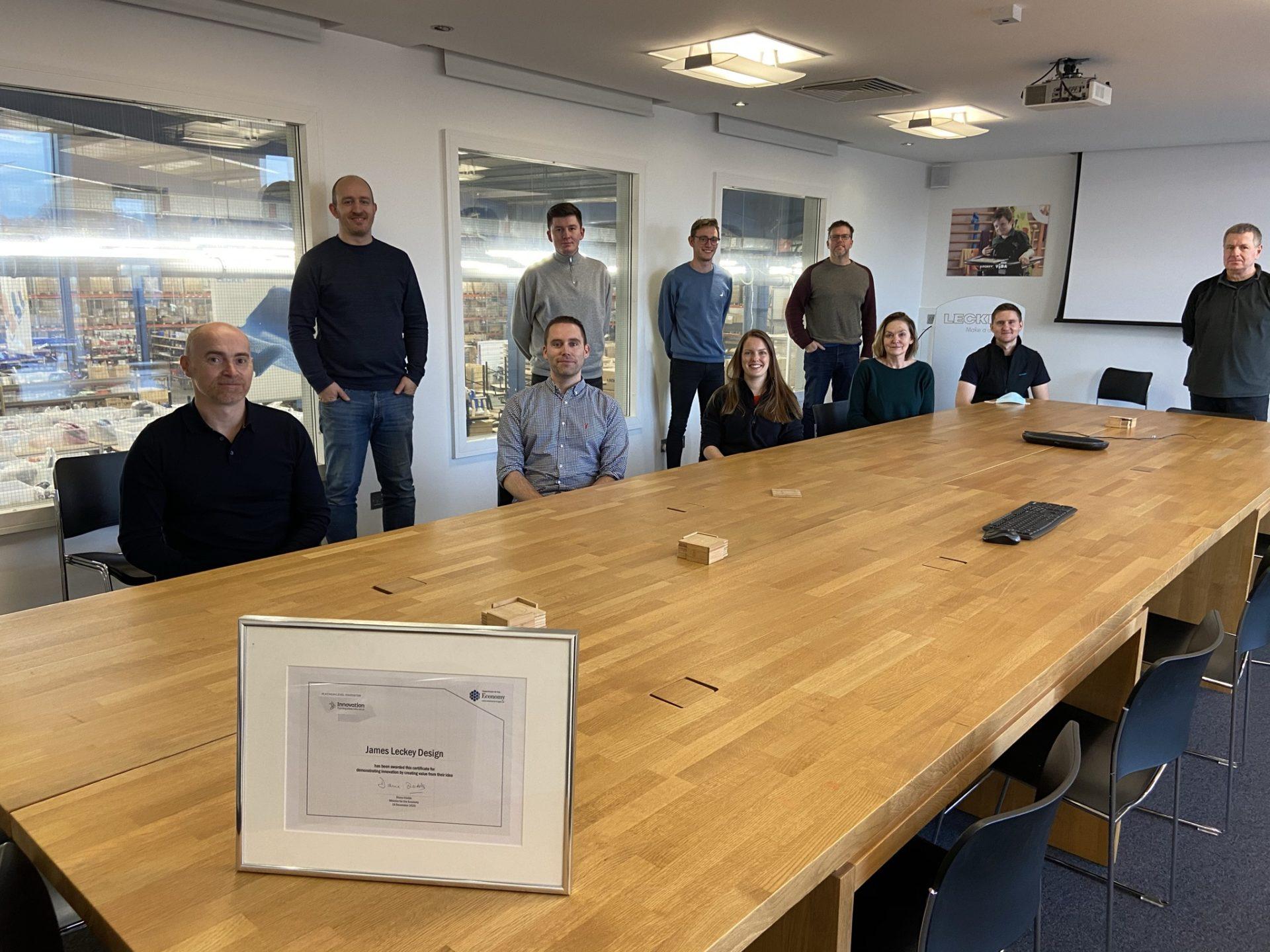 Leckey awarded Platinum Level Innovator Status by Innovate NI