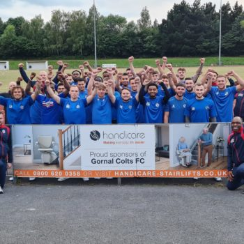 Local football club, Gornal Colts FC, receives new sponsorship from Handicare Accessibility Ltd.